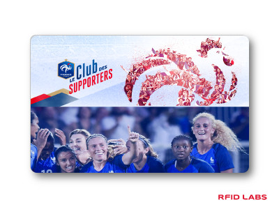Carte magnétique RFID d'accès aux stades de football pour le contrôle d'accès