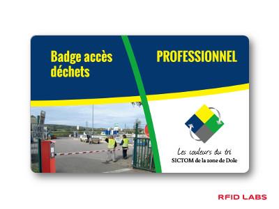 Badge magnétique d'accès déchèterie pour la redevance incitative et le contrôle d'accès en déchèterie