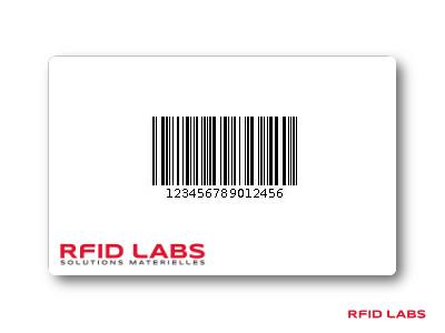 Carte à code barre pour controle d'acces et identification