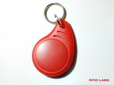 Badge porte-clé RFID magnétique ABS Curve pour le contrôle d'accès