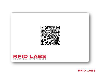 Carte avec QR code pour controle d'acces et identification