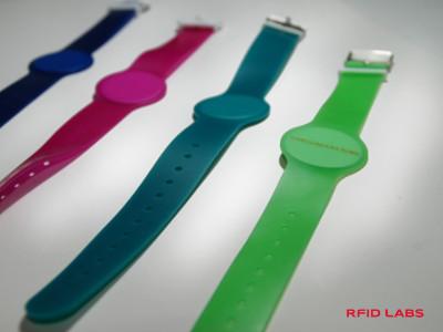 Montre bracelet magnétique RFID PVC boucle plastique ou inox