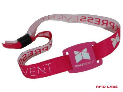 Bracelets RFID pour festivals en tissu brodé couleurs personnalisable