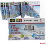 Ticket carton papier RFID sans-contact puce pour metro ou festival