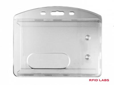 porte-badge cristal polycarbonate transparent