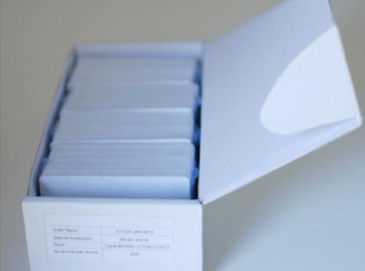 Carte boite RFID Vierge