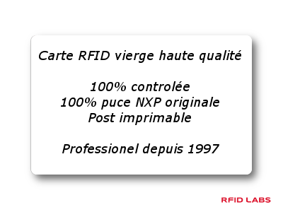 carte vierge RFID haute qualité, post imprimable, 100% controlée et testée, 100% originale NXP