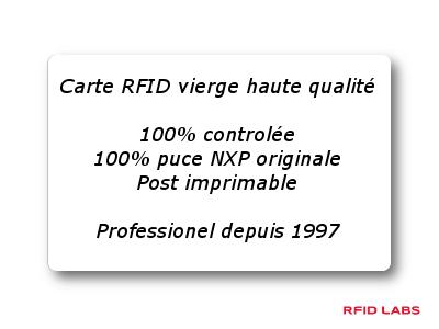 carte vierge RFID