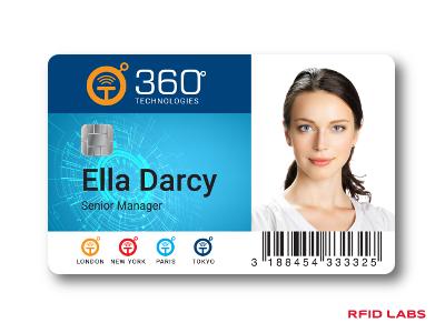 Carte personnalisée avec une imprimante retransfer MAGICARD pour badge RFID