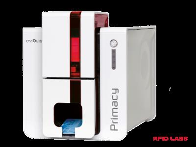 Cette imprimante Evolis PRIMACY permet d'imprimer en couleur des cartes et des badges de controle d'accès