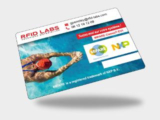 Carte pisicne ou badge RFID MIFARE DESFire personnalisé offset couleur