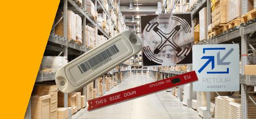 Plusieurs tag NFC RFID UHF pour la traçabilite industrielle sont présentés