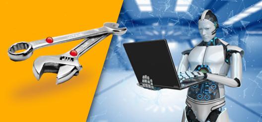 Des outils à main sont équipés de tags RFID UHF afin d'être inventorié par des lecteurs RFID et suivi dans des bases de données