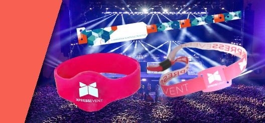 Une gamme de bracelet de controle d'accès en silicon pour les piscines, en tissus pour les festivals cashless et en PVC jetables pour les accès unique en piscine sont présentés