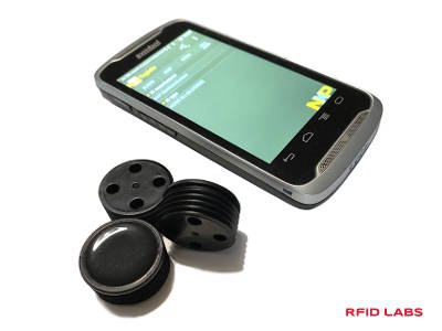 Tag etiquette pour conteneur de déchet et terminal mobile RFID
