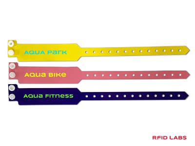 Bracelet piscine jetable PVC RFID magnétique