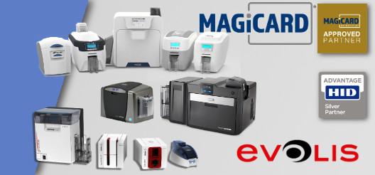 Imprimantes de carte et badge EVOLIS, HID FARGO et MAGICARD