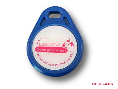 Porte-clé badge rfid MIFARE logo couleur